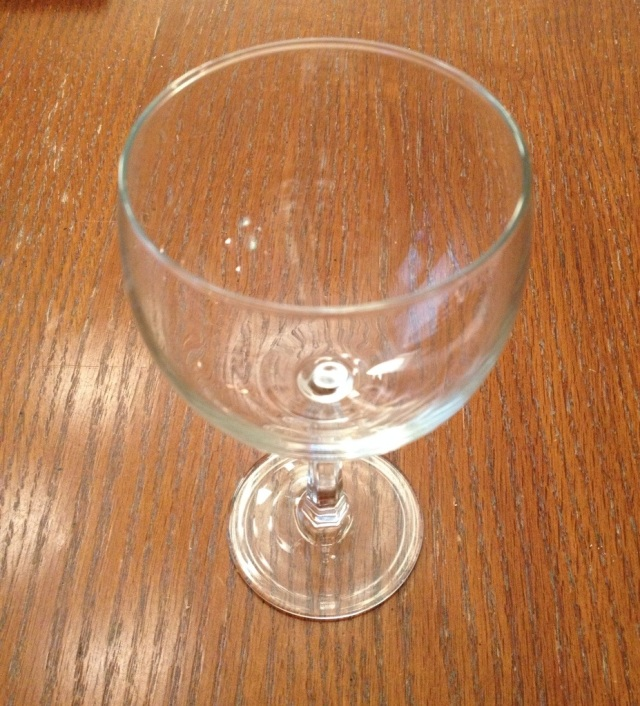 Here is the glass of wine I did not have tonight. This is serious.